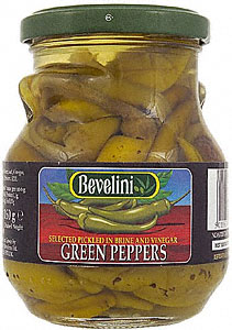 <b>Pickeled green peppers - Bevelini