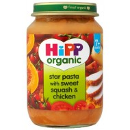 <b>Hipp - Star pasta with sweet squash & chicken